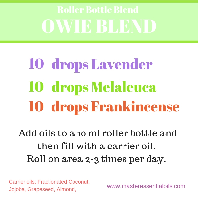Roller bottle for bruises with Lavender