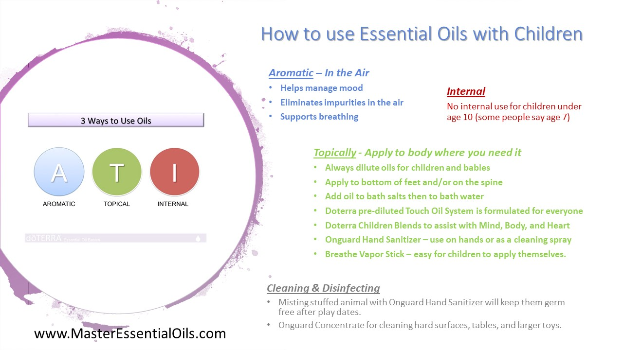 3 ways to use oils with Children